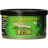 Exo Terra X-Large Grasshoppers Reptile Food, 1.2-oz jar