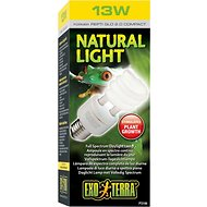 Exo Terra Natural Daylight Reptile Lamp, 13-w bulb