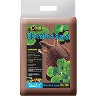 Exo Terra Riverbed Sand Brown Aquatic Terrarium Substrate, 10-lb bag