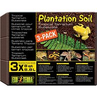 Exo Terra Plantation Soil Brick Tropical Terrarium Reptile Substrate, 8-qt, 3 count