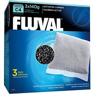 Fluval C4 Activated Carbon Filter Media, 3 count