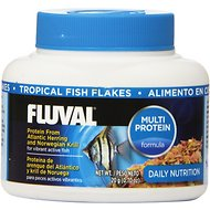 Fluval Color Enhancing Flaked Tropical Fish Food, .7-oz jar