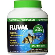 Fluval Vegetarian Pellet Fish Food, 3.17-oz jar