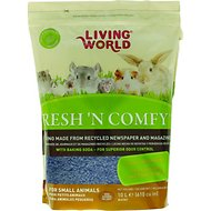 Living World Fresh 'N Comfy Small Animal Bedding, Blue, 10-L