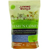 Living World Fresh 'N Comfy Small Animal Bedding, Blue, 20-L