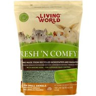 Living World Fresh 'N Comfy Small Animal Bedding, Green, 10-L