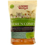 Living World Fresh 'N Comfy Small Animal Bedding, Green, 20-L