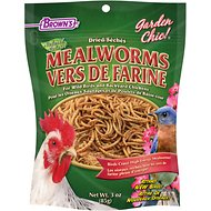 Brown's Garden Chic! Dried Mealworms for Wild Birds, 3-oz bag
