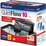 Aqueon QuietFlow Fresh & Saltwater Aquarium Filter, Size 10
