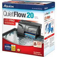 Aqueon QuietFlow Fresh & Saltwater Aquarium Filter, 30-gal