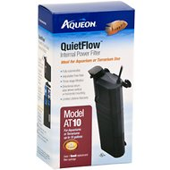 Aqueon QuietFlow Internal Aquarium & Terrarium Internal Power Filter, 10-gal