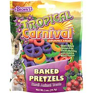 Brown's Tropical Carnival Baked Pretzel Small Animal Treats, 2-oz bag