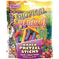 Brown's Tropical Carnival Baked Pretzel Sticks Small Animal Treats, 2-oz bag