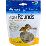 Aqueon Algae Rounds Bottom Feeder Fish Food, 3-oz bag