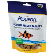 Aqueon Tablets Bottom Feeder Fish Food, 3-oz bag