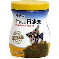 Aqueon Tropical Flakes Freshwater Fish Food, 2.29-oz jar