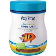 Aqueon Color Enhancing Marine Flakes Fish Food, 1.02-oz jar