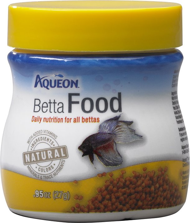 Aqueon betta fish food 95 oz jar for Food for betta fish
