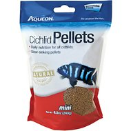 Aqueon Mini Cichlid Pellet Fish Food, 8.5-oz bag