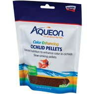 Aqueon Color Enhancing Cichlid Pellet Fish Food, 4.5-oz bag