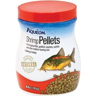 Aqueon Shrimp Pellet Tropical Fish Food, 6.5-oz jar