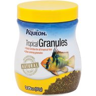 Aqueon Tropical Granules Fish Food, 3.25-oz jar