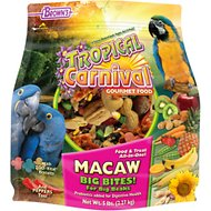 Brown's Tropical Carnival Big Bite Biscuits Macaw Bird Food, 5-lb bag