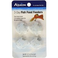Aqueon Tropical Freshwater Fish Food Feeder, 3-day, 4 count