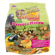 Brown's Tropical Carnival Big Bites Biscuits Parrot & Macaw Bird Food, 4-lb bag