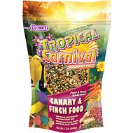 Brown's Tropical Carnival Canary & Finch Bird Food, 1.5-lb bag