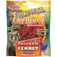 Brown's Tropical Carnival Chicken Ferret Soft Bite-Sized Treats, 4-oz bag