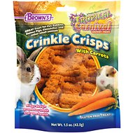 Brown's Tropical Carnival Crinkle Crisps with Carrot Small Animal Treats, 1.5-oz bag