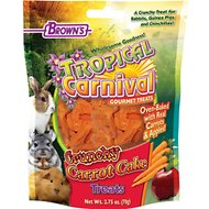 Brown's Tropical Carnival Crunchy Carrot Cake Small Animal Treats, 2.75-oz bag