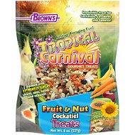 Brown's Tropical Carnival Fruit & Nut Cockatiel Bird Treats, 8-oz bag