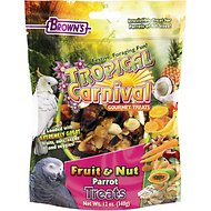 Brown's Tropical Carnival Fruit & Nut Parrot Bird Treats, 12-oz bag