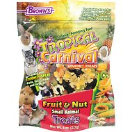 Brown's Tropical Carnival Fruit & Nut Small Animal Treats, 8-oz bag