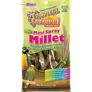 Brown's Tropical Carnival Mini Spray Millet Bird Food, 4-oz bag