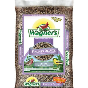 Wagner\\\'s Finches Deluxe Wild Bird Food, 10-lb bag; Wagner\\\'s Finches Deluxe Wild Bird Food is a specialty blend packed with everything a finch could ever hope to find in a potential feeding spot. These social birds are found in all regions of the United States, and you\\\'ll have no trouble attracting them with a food that\\\'s full of Nyjer seeds, a finch favorite. Fill up your finch feeder with a mix that\\\'s sure to bring small-beaked songbirds such as house, purple and Cassin\\\'s finches as well as goldfinches and other small birds like sparrows, towhees, juncos, red polls and pine siskins.