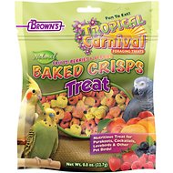 Brown's Tropical Carnival Natural Baked Crisps Bird Treats, 0.8-oz bag