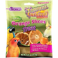Brown's Tropical Carnival Natural Orange Slices Bird Treats, 0.7-oz bag