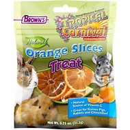 Brown's Tropical Carnival Natural Orange Slices Small Animal Treats, 0.75-oz bag