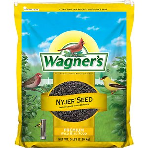 Wagner\\\'s Nyjer Seed Premium Wild Bird Food, 5-lb bag; Get ready to see a flurry of finches with Wagner\\\'s Nyjer Seed Premium Wild Bird Food. This specialty food will draw finches right to your yard because it\\\'s overflowing with extra-clean Nyjer seeds, a longtime favorite of these social songbirds. Fill up your finch feeder with seeds that are sure to bring small-beaked visitors such as American goldfinches, purple finches, pine siskins and other small songbirds.
