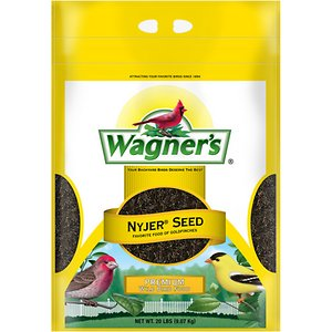 Wagner\\\'s Nyjer Seed Premium Wild Bird Food, 20-lb bag; Get ready to see a flurry of finches with Wagner\\\'s Nyjer Seed Premium Wild Bird Food. This specialty food will draw finches right to your yard because it\\\'s overflowing with extra-clean Nyjer seeds, a longtime favorite of these social songbirds. Fill up your finch feeder with seeds that are sure to bring small-beaked visitors such as American goldfinches, purple finches, pine siskins and other small songbirds.