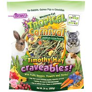 Brown's Tropical Carnival Natural Timothy Hay Craveables! Small Animal Food, 24-oz bag