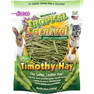 Brown's Tropical Carnival Natural Timothy Hay Small Animal Food, 48-oz bag