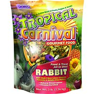 Brown's Tropical Carnival Rabbit Food, 3-lb bag