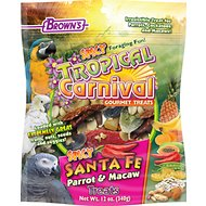 Brown's Tropical Carnival Spicy Santa Fe Parrot & Macaw Bird Treats, 12-oz bag