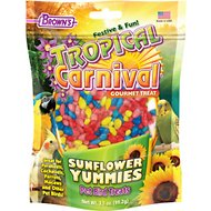 Brown's Tropical Carnival Sunflower Yummies Bird Treats, 3.5-oz bag