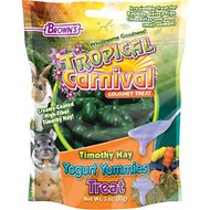 Brown's Tropical Carnival Timothy Hay Yogurt Yummies Small Animal Treats, 3-oz bag