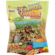 Brown's Tropical Carnival Natural with ZOO-Vital Biscuits Cockatiel & Lovebird Bird Food, 2.5-lb bag
